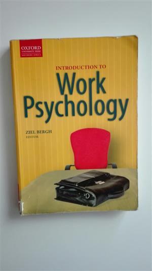 Text Book Introduction to Work Psychology Ziel Bergh for sale  Pretoria - Pretoria East