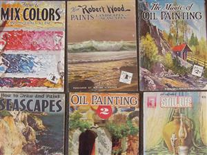 Very Old Painting Books - 6 books - on painting Techniques