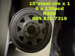 15 INCH STEEL RIM FOR SALE