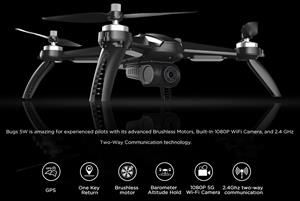 MJX Bugs 5W GPS camera drone - fly more combo