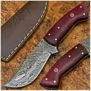 R500 OFF Handmade Damascus Steel Hunting Knife