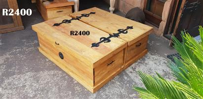 2 Kist Coffee Table (1220x1190x440)