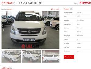 2012 Hyundai H1 H 1 2.4 panel van GL
