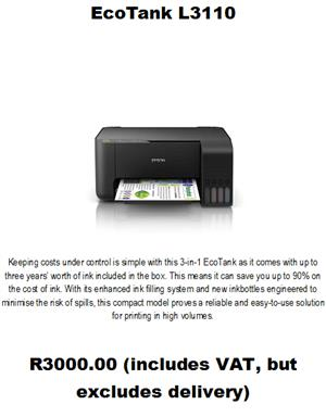 EPSON L3110 ECOTANK PRINTERS | Junk Mail