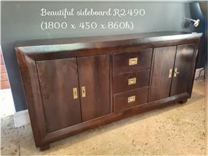 Beautiful dark wooden sideboard