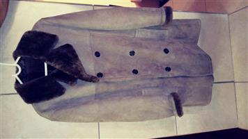 Genuine imported sheepskin coat