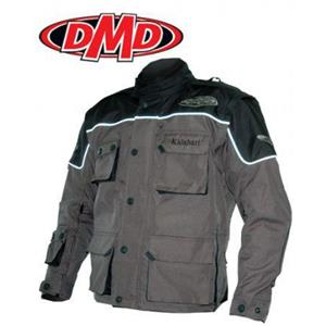 DMD Kalahari Motorbike Jacket - Black and Grey - Size 5XL