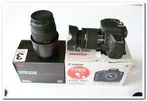 Canon EOS 750D DSLR Camera plus Canon 18-55mm kit lens