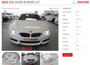 2014 BMW 4 Series 428i Gran Coupe M Sport sports auto