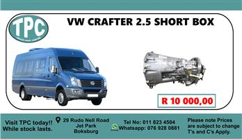 VW Crafter 2.5 Short Box - For Sale at TPC