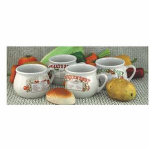 4 Piece soup mug set with recipes in gift box !! On Promotion!!!