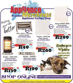 Appliance Warehouse Centurion - OUR PRICES WILL KEEP THE COLD OUT!