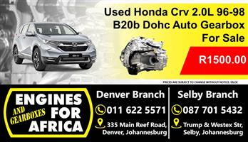 Used Honda Crv 2.0L B20B Dohc 96-98 Auto Gearbox For Sale