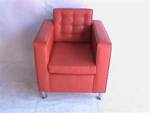 ST Helena Single seater red couch