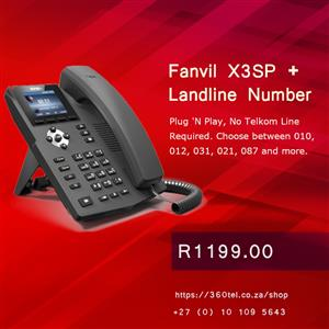 Fanvil Office Phone with 031 Number - No Telkom Line Required! LIMITED STOCK.