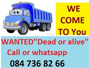 URGENT!! URGENT!!   100 x TRUCKS WANTED ANYWHERE IN GAUTENG, We buy them Dead or Alive