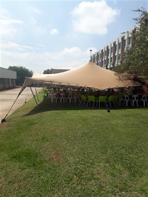 Stretch Tent for Sale 10m x 12m Beige Price Negotiable