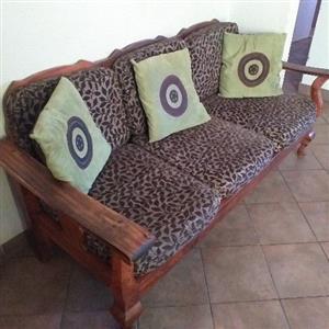 Imboya wood 7 seater set