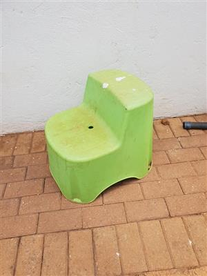 Green kiddies chair for sale
