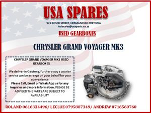 CHRYSLER VOYAGER MK3 USED GEARBOXES FOR SALE