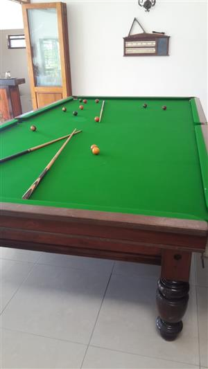 Full sized Slate Snooker table, with all the accessories.