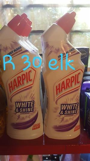 Harpic white and shine lavender toilet cleaner