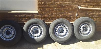 Ford ranger 16' steal rims and tyres
