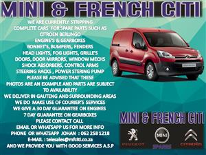 USED CAR PARTS AND ACCESSORIES FOR CITROEN DS3 , DS4 BERLINGO