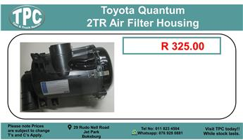 Toyota Quantum 2Tr Air Filter Housing For Sale.