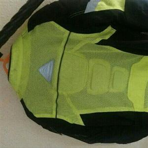 brand new bike jacket black/lime green