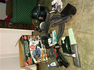 Genesis big green extreme bissel wet and dry vacuum cleaner with all fittings and user manual
