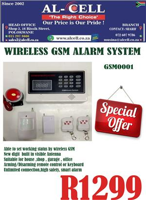 Wireless GSM Voice Burglar Alarm System 99 Defense Area
