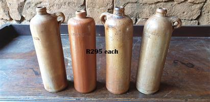 Vintage Erven Lucas Bols and Hulstkamp & Zoon Stoneware Bottles Each R295