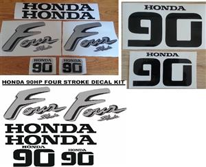 Honda 90 four stroke outboard motor decals stickers vinyl graphics kits