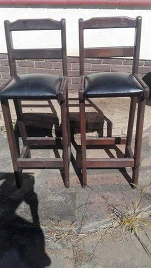 Wooden bar chairs for sale
