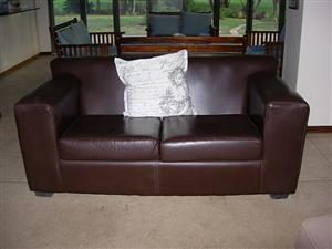 Full Leather Couch - also other Furniture and Appliances
