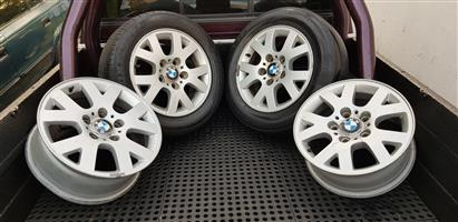 15 BMW OEM Mags with Two Tyres
