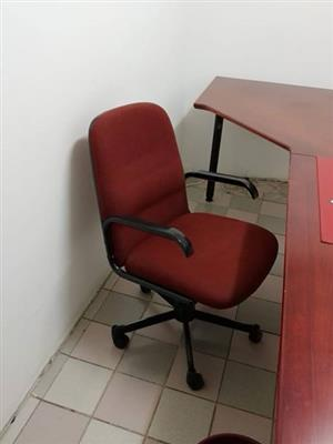 Red office chair with wheels for sale
