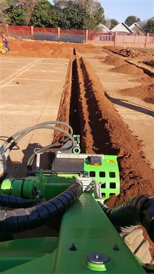 Trenching, pole holes, excavator and front end loader