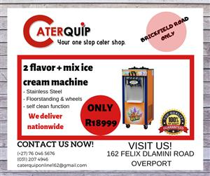 2 Flavour + mix Ice Cream Machine for sale