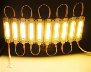 LED Light Modules: Waterproof COB Injection Moulded in Warm White Colour. 12Volts.