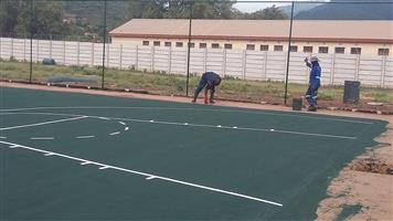 We build Tennis courts Welkom ,  0846941581