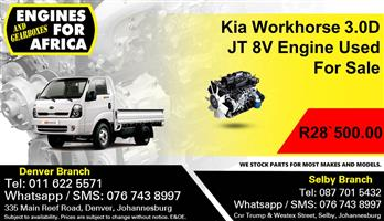 Kia Workhorse 3.0D JT 8V Engine Used For Sale.