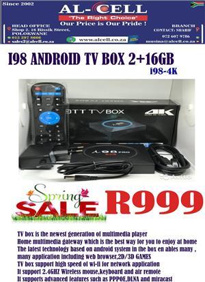 I98 4K ANDROID TV BOX 2+16 GB
