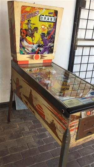 El Dorado Pinball Machine , a 1 player western themed pinball by Gottlieb for sale