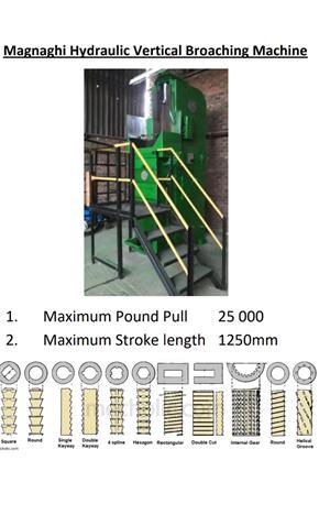 Magnaghi 25000 Pound Broaching Machine