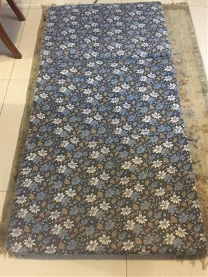 Foldup single bed size slimline matrress in floral print finish