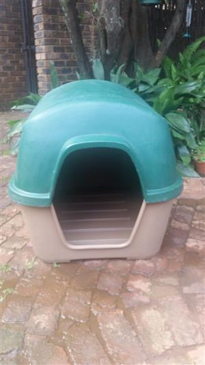 Large plastic dog kennel