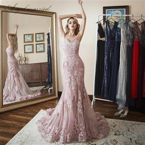 Lace Appliqued Prom/Graduation Dress (Sizes 2-20w)