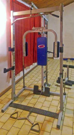 Power Cage, bench and free weights for sale as a unit.